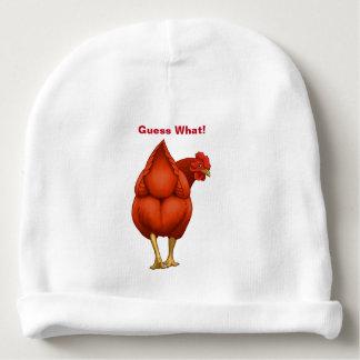 Lustige Vermutung welche Huhn-Hintern-Rot-Henne Babymütze