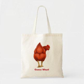 Lustige Vermutung welche Huhn-Hintern-Rot-Henne Tragetasche