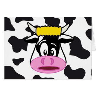 Lustige verrückte Kuh Stier auf Mitteilungskarte