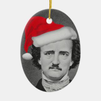 Lustige Verzierung Weihnachtsmannmütze-Edgar A. Keramik Ornament