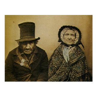Lustige viktorianische alte Ehemann-und Postkarte