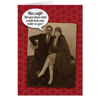 Lustige Vintage andeutende Karte des Valentines Karte