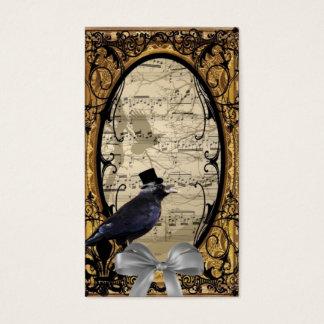 Lustige Vintage gotische Hochzeitskrähe Visitenkarte