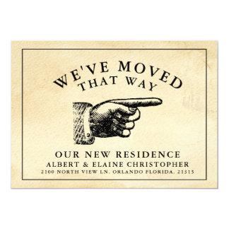 Lustige Vintage Handneue Adresse Karte
