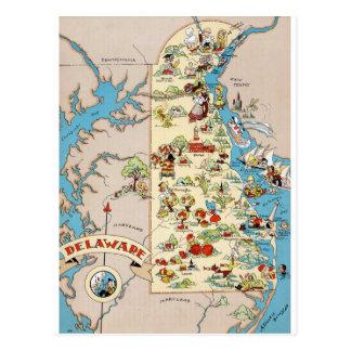 Lustige Vintage Karte Delawares