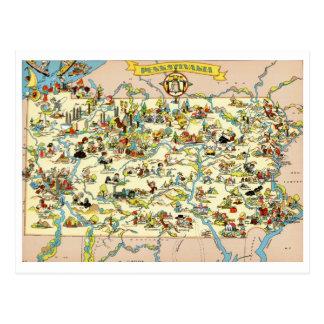 Lustige Vintage Karte Pennsylvanias Postkarte