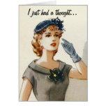 Lustige Vintage Modegrußkarte