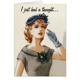 Lustige Vintage Modegrußkarte Karte
