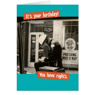 Lustige Vintage Polizist-Geburtstags-Rechte Karte