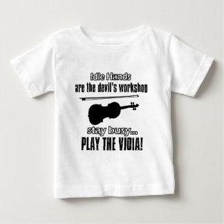 Lustige Violaentwürfe Baby T-shirt