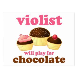 Lustige Violist-Musik-Postkarte Postkarte