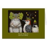 lustige Vogel-/Tiergeburtstagskarte Grußkarte