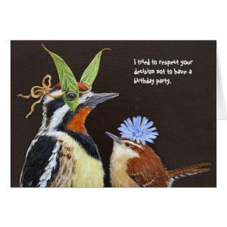 Lustige Vogelgeburtstagskarte mit Sapsucker Karte