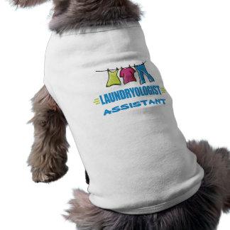 Lustige Wäscherei Ärmelfreies Hunde-Shirt
