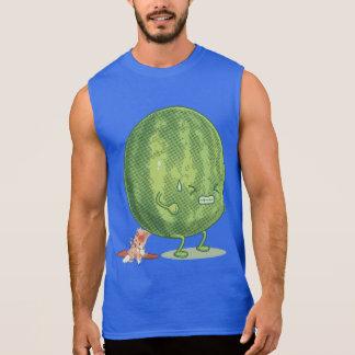 Lustige Wassermelone, die Cartoon kackt Ärmelloses Shirt
