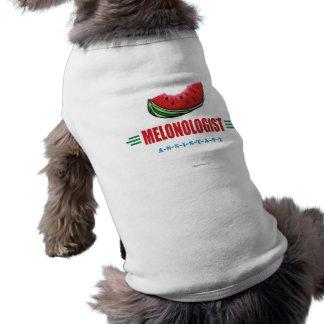 Lustige Wassermelone Ärmelfreies Hunde-Shirt