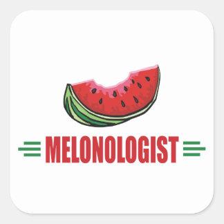 Lustige Wassermelone Quadratischer Aufkleber