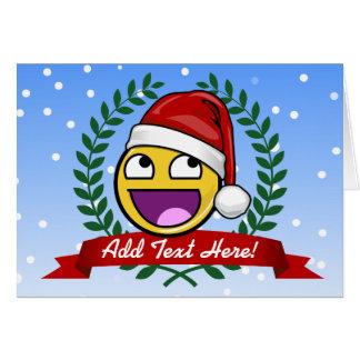 Lustige Weihnachtsart-fantastisches Gesicht Meme Grußkarte