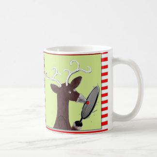 lustige Weihnachtsbadmintonschale Kaffeetasse