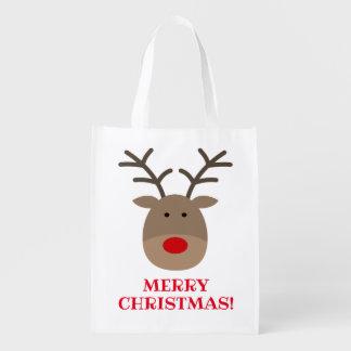 Lustige Weihnachtseinkaufstasche mit niedlichem Wiederverwendbare Einkaufstasche