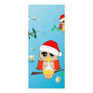 Lustige Weihnachtseulen 10,2 X 23,5 Cm Einladungskarte