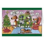 Lustige Weihnachtshundekarte