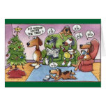 Lustige Weihnachtshundekarte Grußkarte