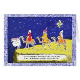 Lustige Weihnachtskarte: Die drei Könige Karte