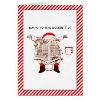 Lustige Weihnachtskarte Karte