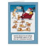 Lustige Weihnachtskarte: Pferdeschlitten-Katzen