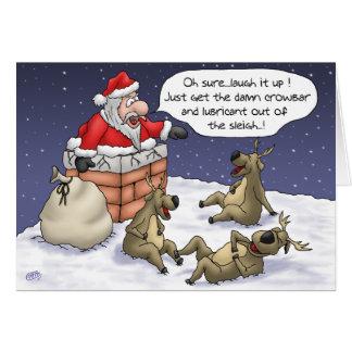 Lustige Weihnachtskarten: Fest Karte