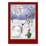 Lustige Weihnachtskarten: Größen-Angelegenheiten Grußkarten