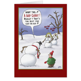 Lustige Weihnachtskarten: Größen-Angelegenheiten Karte