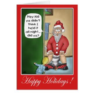 Lustige Weihnachtskarten: Gruben-Halt Karte