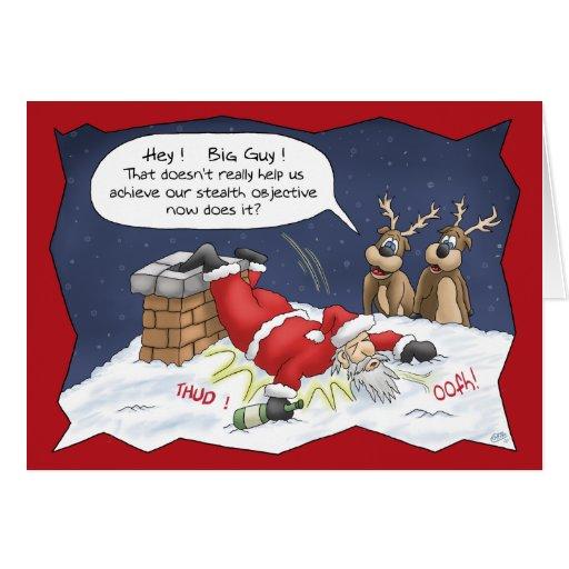 lustige weihnachtskarten heimlichkeits ziel karte zazzle. Black Bedroom Furniture Sets. Home Design Ideas