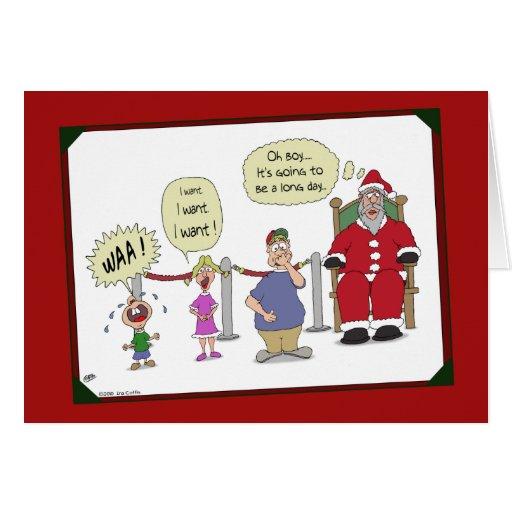 lustige weihnachtskarten langer tag karte zazzle. Black Bedroom Furniture Sets. Home Design Ideas