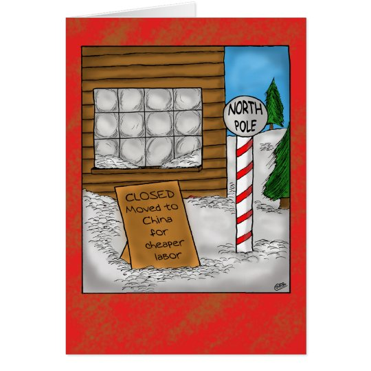 lustige weihnachtskarten nordpol bewegen karte zazzle. Black Bedroom Furniture Sets. Home Design Ideas