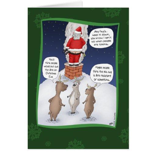 lustige weihnachtskarten setzen sie das feuer her gru karten zazzle. Black Bedroom Furniture Sets. Home Design Ideas