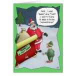 Lustige Weihnachtskarten: Stark von der Anhörung Grußkarte