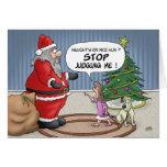 Lustige Weihnachtskarten: Stoppen Sie zu urteilen Karten