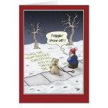 Lustige Weihnachtskarten: Ununterbrochener Fluss Karten