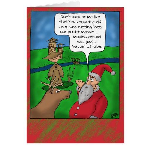 lustige weihnachtskarten weihnachten im ausland gru karte zazzle. Black Bedroom Furniture Sets. Home Design Ideas