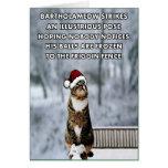 Lustige Weihnachtskatze Grußkarte
