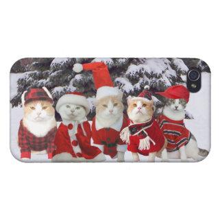 Lustige Weihnachtskatzen iPhone 4 Schutzhülle