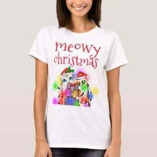 Lustige Weihnachtskatzen-Liebhaber-grundlegender T T-Shirt