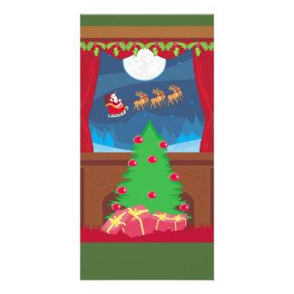 Lustige Weihnachtsmann-Foto-Karte Photo Grußkarte