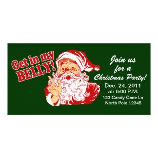 Lustige WeihnachtsParty Einladungen Bild Karte