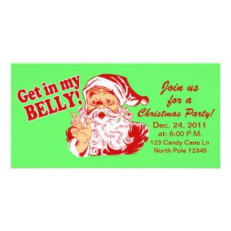 Lustige WeihnachtsParty Einladungen Foto Karte