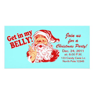 Lustige WeihnachtsParty Einladungen Photo Grußkarte