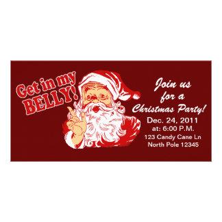 Lustige WeihnachtsParty Einladungen Photo Karten